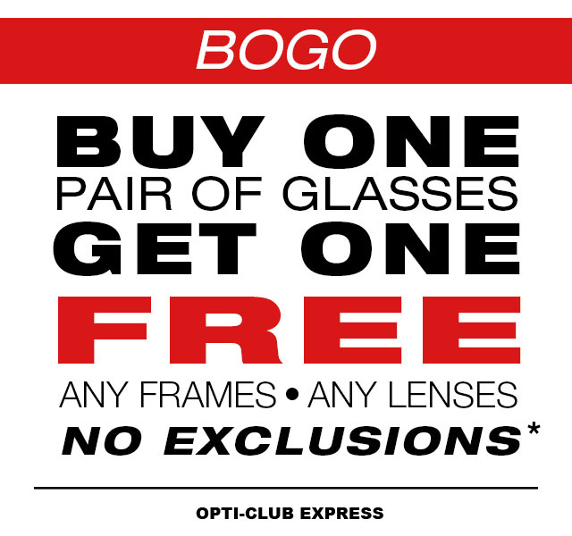 Buy One Get One Pair of Glasses Free coupon