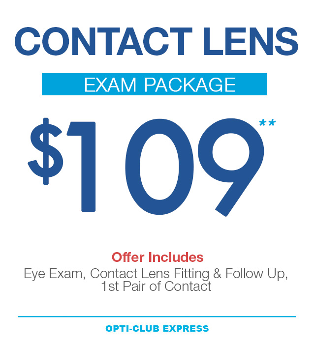 eye exam package for $109